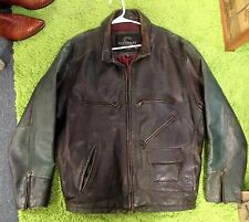 Vintage Leather Motorcycle Jacket  XL