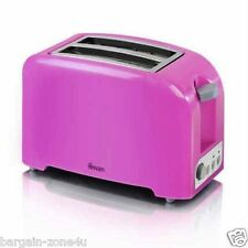 Swan Pink 2 Slice Electric Toaster Variable Browning Control Home Kitchen Bread