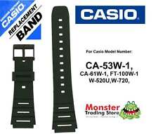REPLACEMENT CASIO WATCH BAND ORIGINAL ONLY FITS: CA53,CA-53W,CA53,FT100,W720