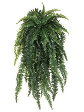 "ONE 52"" Weeping Boston Fern Hanging Bush Artificial Silk Plants Fake Decor 480"