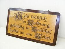 altes Schild Brett Haussegen Bild Holz Kunst - Gebet - mit Spruch