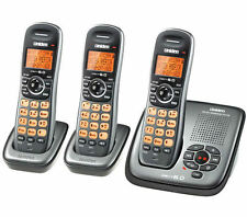 UNIDEN DECT 1535+2 DIGITAL CORDLESS PHONE, HOME OR OFFICE ANS/MACHINE 3 HANDSETS