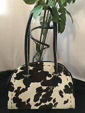 Donald J Pilner Real Cow Fur And Leather And Silver Dog Charms Medium Size