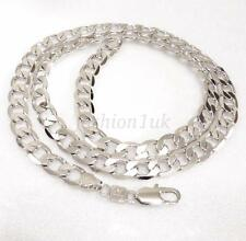 61cm White Gold Plated Men Lady Classic Xmas Birthday Chain Link Necklace