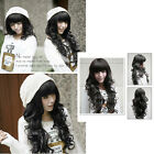Sweet Girl Vogue Stylish Fluffy Natural Black Curly Wavy Long Hair Full Wig Wigs