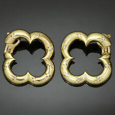 VAN CLEEF & ARPELS Alhambra Yellow Gold Diamond Earrings