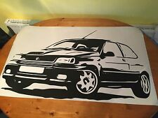 Renault Clio Williams Retro Massive Wall Art Vinyl Sticker 38x 23inch - Free P&P