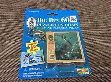 Big Ben 60 puzzle key chain - vintage - sealed - MB Puzzle - Rare - Age 3 plus