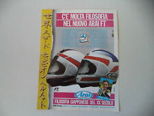 advertising Pubblicità 1987SCO HELMET ARAI e FREDDIE SPENCER