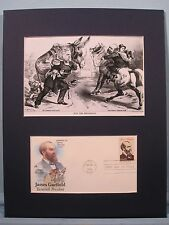 President James Garfield and th Election of 1880 & First Day Cover of his stamp