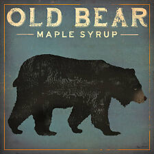 Old Bear by Ryan Fowler Vintage Advertisement Maple Syrup Wildlife Print Poster