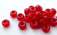 6/4MM CZECH GLASS LARGE HOLE RONDELLE/SPACER/PONY/CROW BEAD - 40PCS