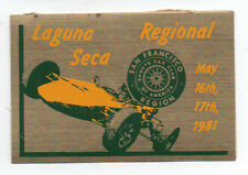 1981 Laguna Seca Paper Auto Racing Tag for Regional Race