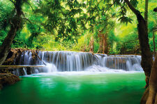 Paradise photo wallpaper - waterfall in the jungle - XXL wall decoration mural