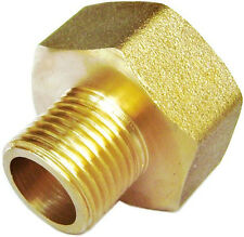 "1/2"" Female NPT to 1/8"" Male NPT Coupling Brass Pipe Fitting Gauge adapter N-D2"