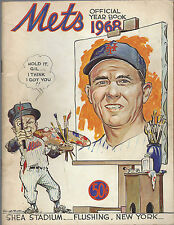 1968 New York Mets Official Yearbook Shea Stadium  + Kiner Picture