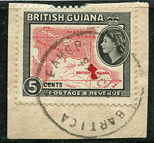 BRITISH GUIANA: (11996) skeleton/BARTICA STEAMER cancel