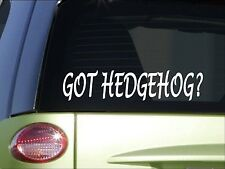 "Got hedgehog *H976* 8"" Sticker decal cage food house"
