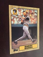 1987 Topps #320 - Barry Bonds - Pittsburgh Pirates (RC)
