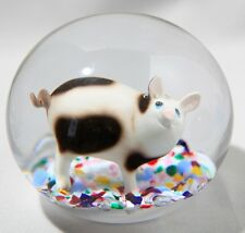 GIGANTIC 7 POUND GIBSON GLASS SULPHIDE DOORSTOP  PAPERWEIGHT WITH PIG