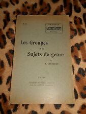 LES GROUPES ET LES SUJETS DE GENRE - J. Carteron - Charles-Mendel