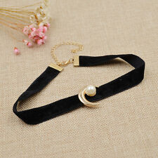 Anime Sailor Moon Pendant Necklace Black Velvet Choker Usagi Tsukino Cosplay