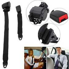Universal Adjustable Retractable Vehicle 3-Point Auto Car Safety Seat Lap Belt