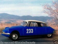"CITROEN DS MONTE CARLO RALLY 1:60/3"" (Blue) Norev  Diecast Passenger Car Sealed"