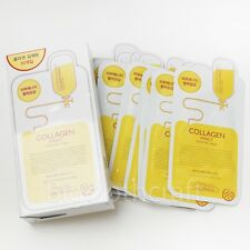 10Pcs MediHeal Clinic Collagen Impact Essential Mask Pack Sheets Made in Korea