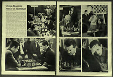 Chess Masters Hastings Owen Hindle Paul Keres 1965 2 Page Photo Article