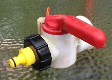 IBC STILLAGE TANK Butt REPLACEMENT TAP WITH STANDARD HOSE PIPE REDUCER FREE POST