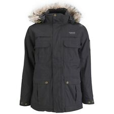 Mens Regatta Insulated Waterproof Landscape Hooded Parka Jacket Coat Black XXL