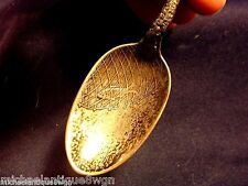 Antique Williams & Sons Sterling Souvenir Spoon Albany Ny Fish In Net