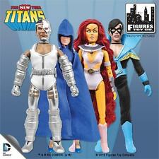 THE NEW TEEN TITANS NIGHTWING; STARFIRE; CYBORG. RAVEN 8 INCH FIGURES POLYBAG