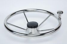 5-spoke 13.5'' Destroyer Steering Wheel with Control Knob Boat Stainless Cap