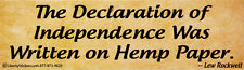 The Declaration Of Independence Was Written On..  Magnetic Bumper Sticker Magnet