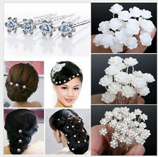 18pcs Small Rose Flower Hair Pins Clip Jewelry Wedding Bridal Bridesmaid