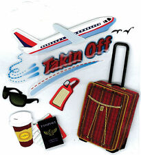 Jolee's TAKING OFF Stickers TRAVEL VACATION AIRPLANE FLIGHT LUGGAGE