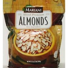 MARIANI Sliced Premium Almonds All Natural - 32 Oz New