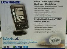 Lowrance Mark-4 HDI fishfinder/GPS with 83/200Khz transducer. #000-11214-001