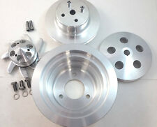 BBC Big Block Chevy 2 / 3 Groove Aluminum Long Pump Pulley Kit 396 427 454 V8