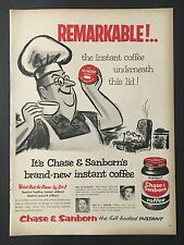 1956 Vintage Ad for Chase & Sanborn Coffee