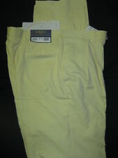 NWT Bobby Jones Golf Yellow Dress Pants Mens 35