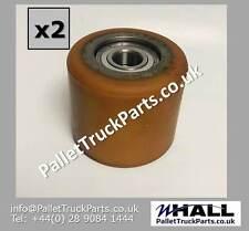 x2no. D85 x W75mm P/U - steel pallet truck load roller/ wheel + D20mm bearings