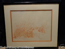 LIPPMAN DRAWING FRAMED BY CLOSSON CINCINNATI OHIO SAND DUNE