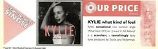 15/8/92PGN30 KYLIE MINOGUE : WHAT KIND OF FOOL SINGLE ADVERT 3X11""