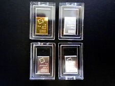 NEW (4x) 1 Gram Bars / Gold .9999, Silver .999, Platinum .9995, Palladium .9995