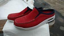 Cole Haan Red Suede slip-ons Nike air sole size 8 1/2