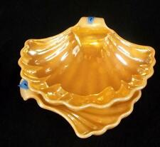 Set of 2 Fire King 'Peach Lustre'  'Laurel' Shell Shaped Candy Dishes  # 1 -  NR