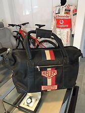 TAG HEUER NEW ORIGINAL LEATHER TRAVEL BAG GRANDPRIX ORIGINALS HEUER